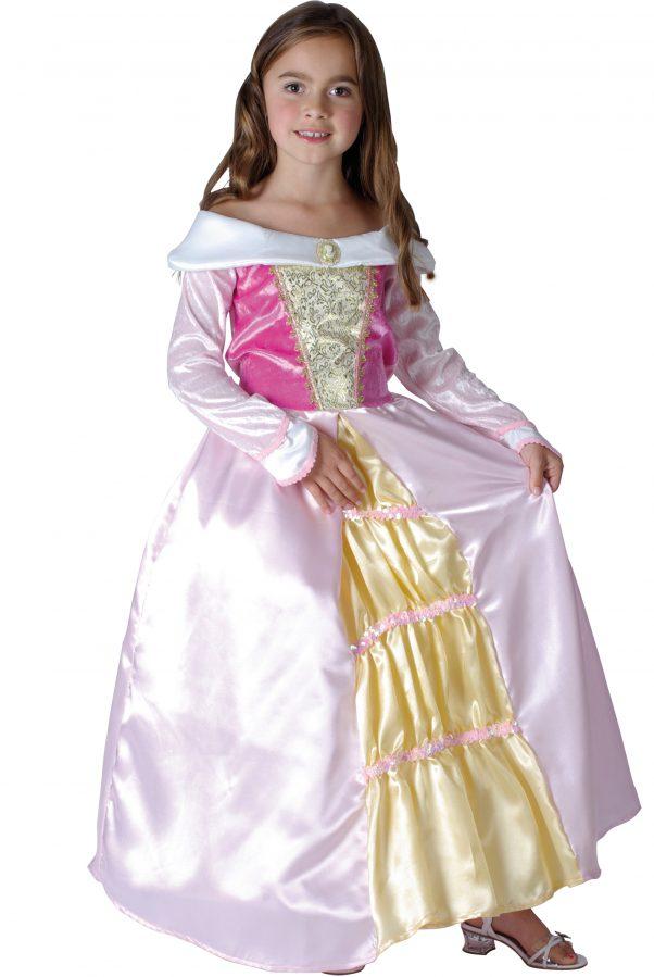 Photo du produit Déguisement princesse robe satinée fille