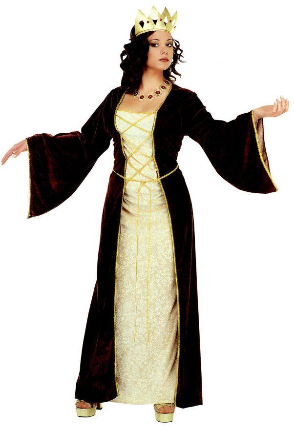 Photo du produit Déguisement princesse médiévale avec couronne femme