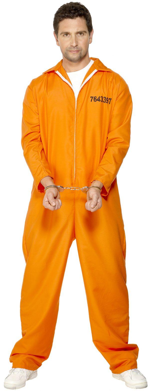 Photo du produit Déguisement prisonnier orange homme