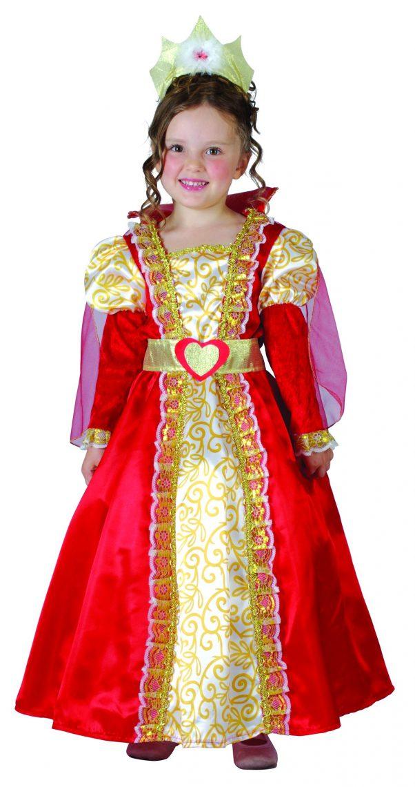 Photo du produit Déguisement reine rouge et or fille