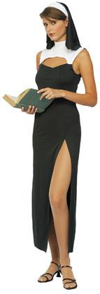Photo du produit Déguisement nonne sexy robe fendue femme