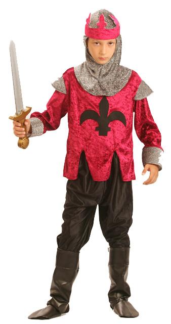 Photo du produit Déguisement chevalier médiéval rouge garçon