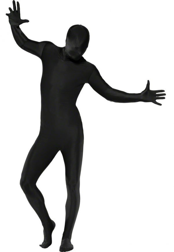 Photo du produit Déguisement seconde peau noir adulte