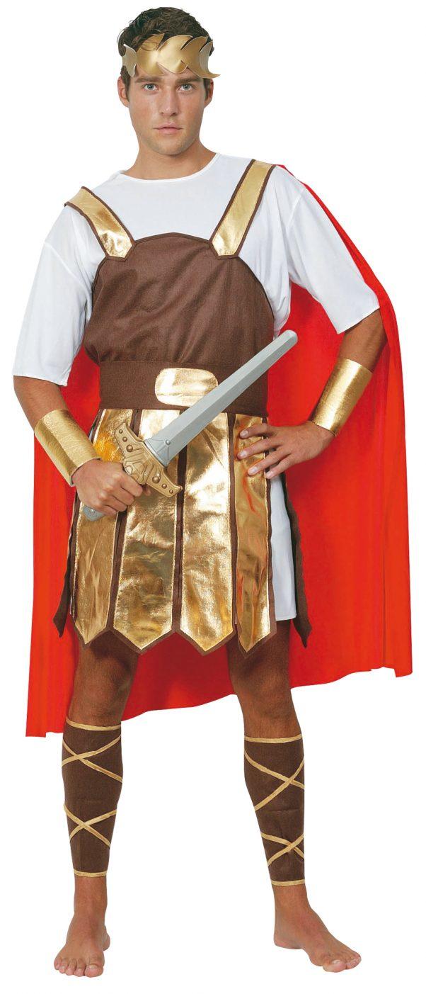 Photo du produit Déguisement gladiateur romain cape rouge homme