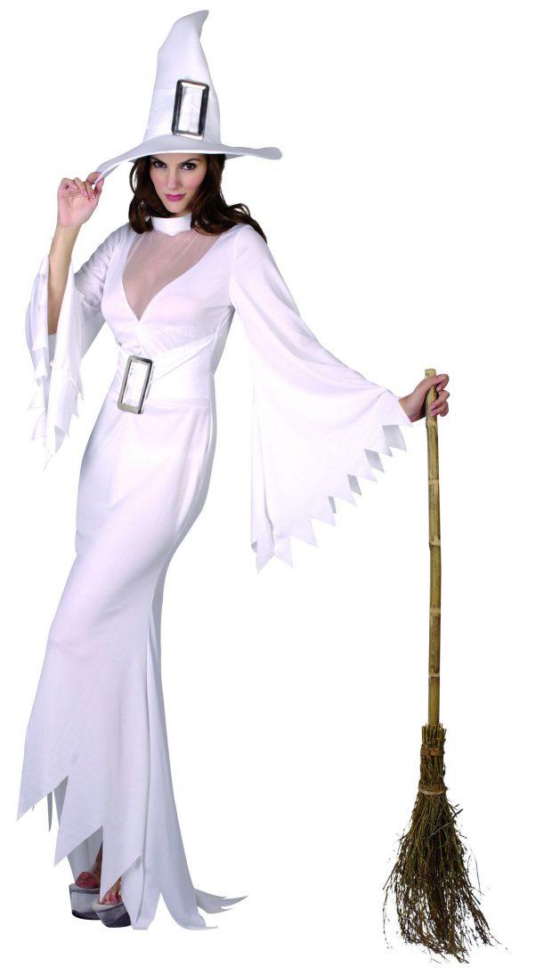Photo du produit Déguisement sorcière blanche femme Halloween