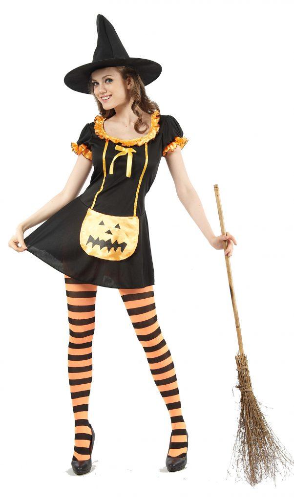Photo du produit Déguisement sorcière citrouille femme Halloween