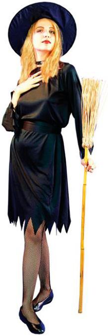 Photo du produit Déguisement noir sorcière femme Halloween