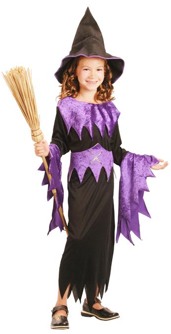 Photo du produit Déguisement violet de sorcière fille Halloween