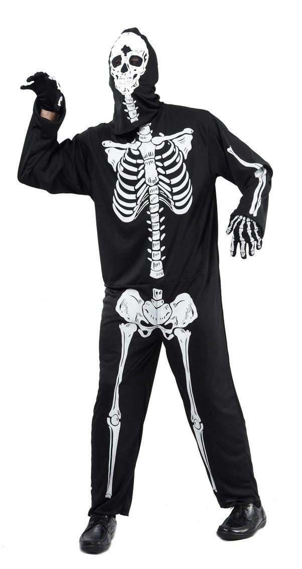 Photo du produit Déguisement noir squelettehomme Halloween