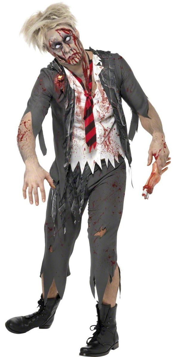 Photo du produit Déguisement zombie écolier homme Halloween