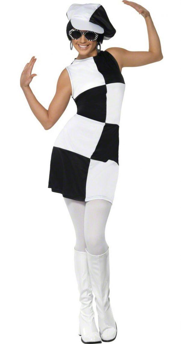 Photo du produit Déguisement disco femme blanc et noir