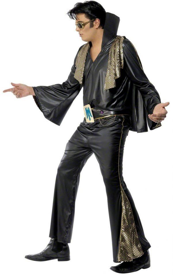 Photo du produit Déguisement Elvis Presleynoir et doré homme