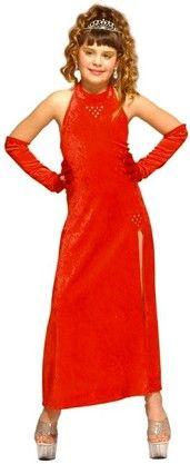 Photo du produit Déguisement cabaret glamour rouge fille