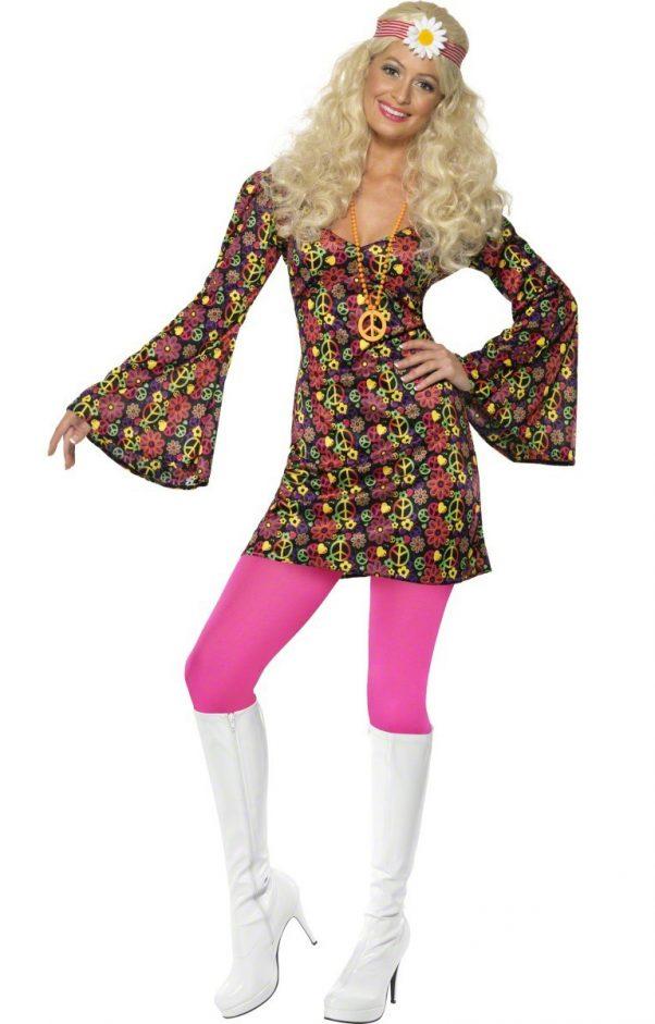 Photo du produit Déguisement hippie sixties femme