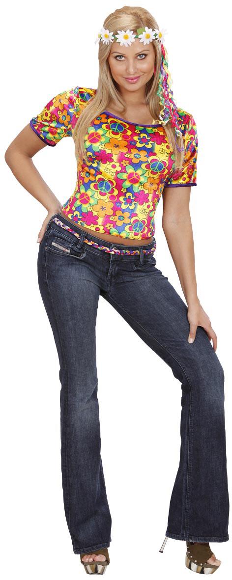Photo du produit Déguisement hippie flower-power femme