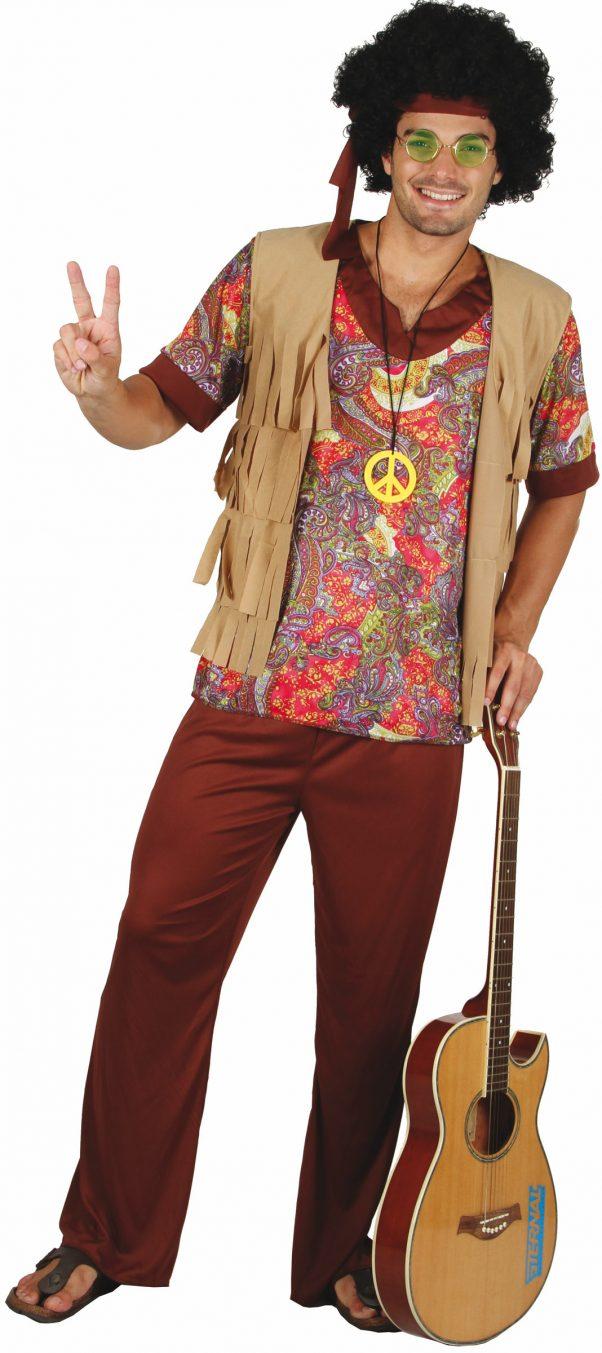 Photo du produit Déguisement hippie motif rouge homme