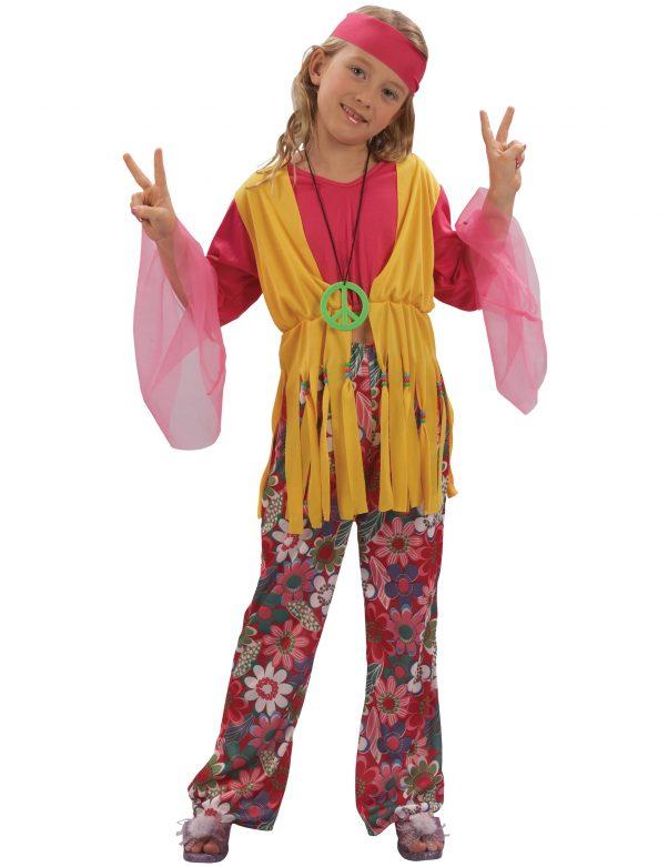 Photo du produit Déguisement hippie muticolore fille