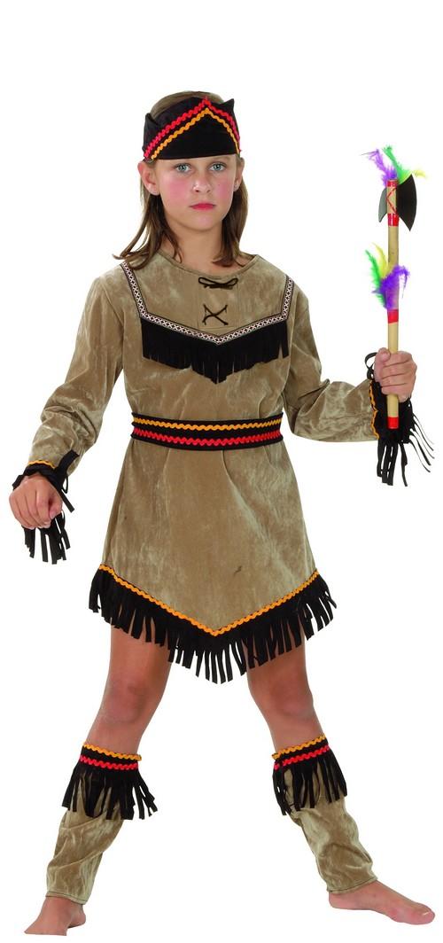 Photo du produit Déguisement indienne marron et noir fille