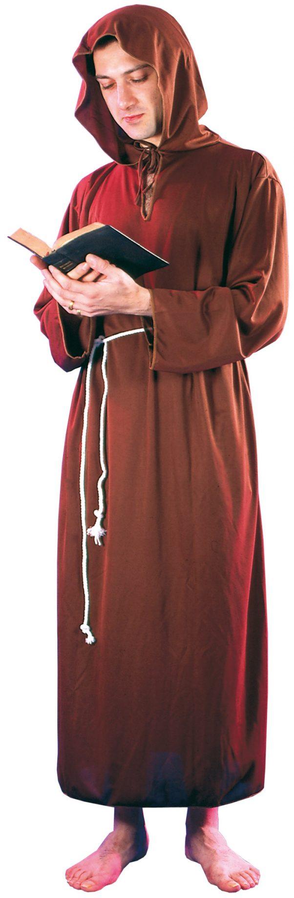 Photo du produit Déguisement moine marron clair homme