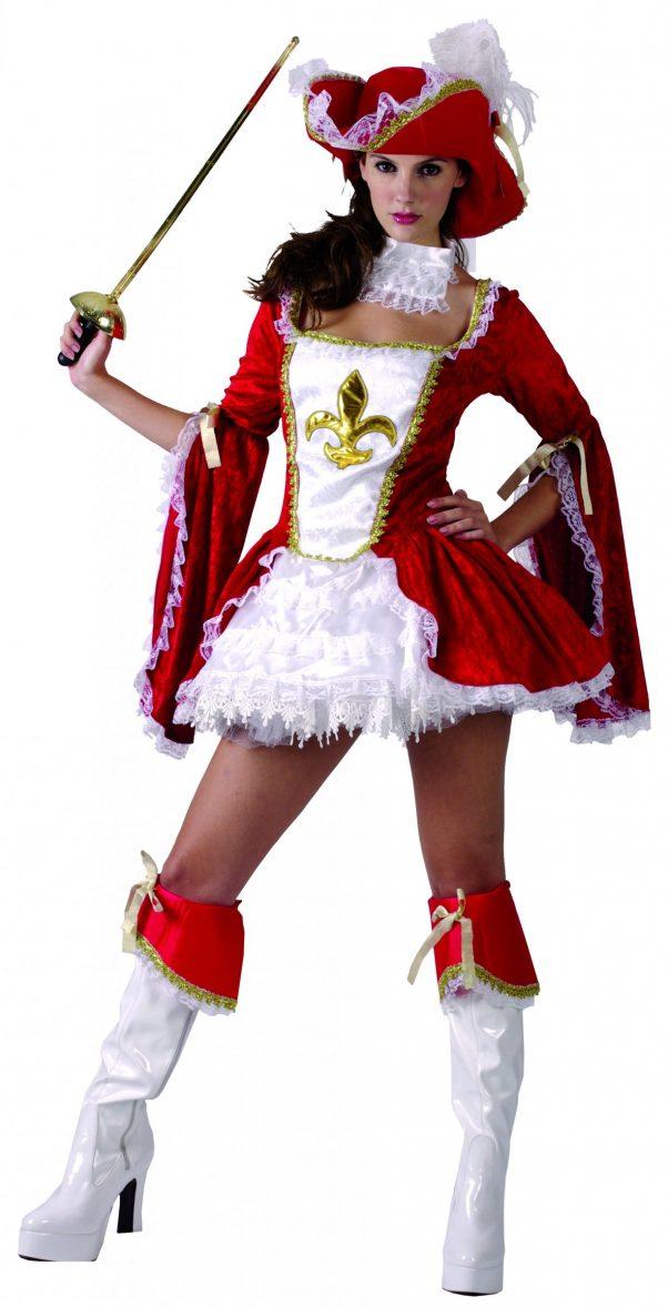 Photo du produit Déguisement mousquetaire sexy rouge femme