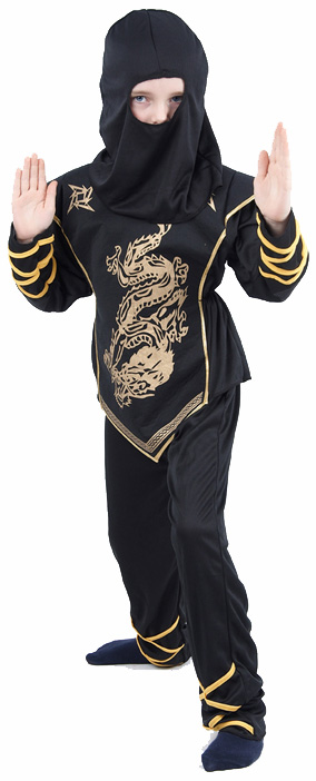 Photo du produit Déguisement ninja dragon doré garçon
