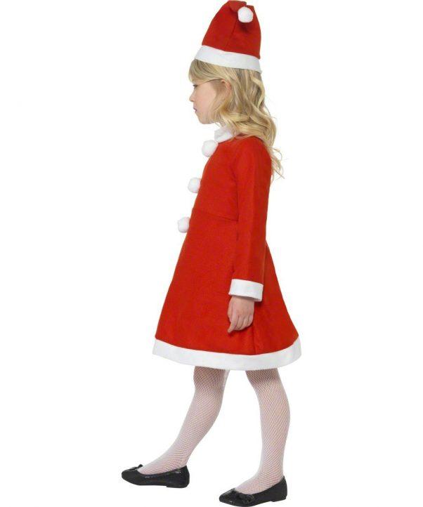 Photo du produit Déguisement Mère Noël robe pompons fille