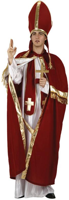 Photo du produit Déguisement pape rouge et blanc homme