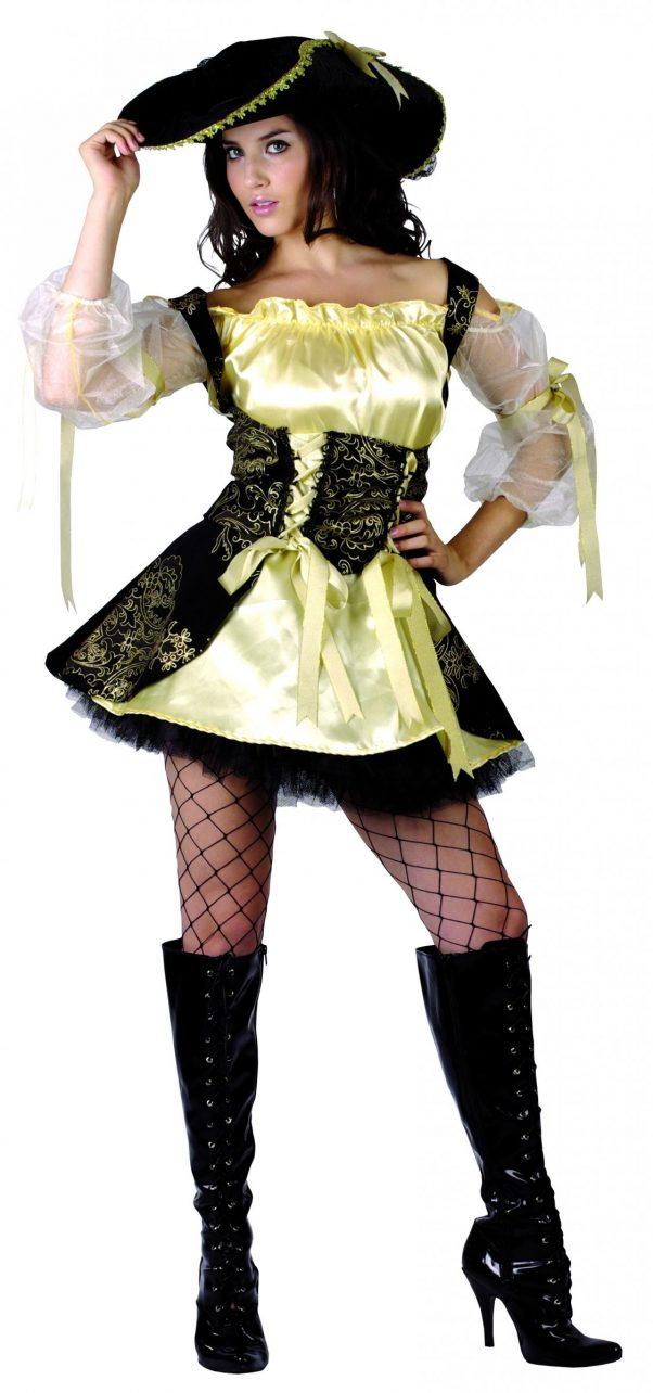 Photo du produit Déguisement pirate jaune femme