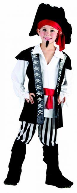 Photo du produit Déguisement pirate avec rayures noires et blanches garçon