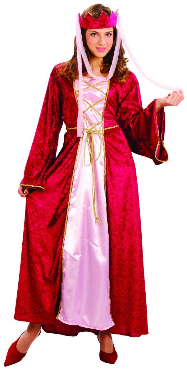 Photo du produit Déguisement rouge reine médiévale femme