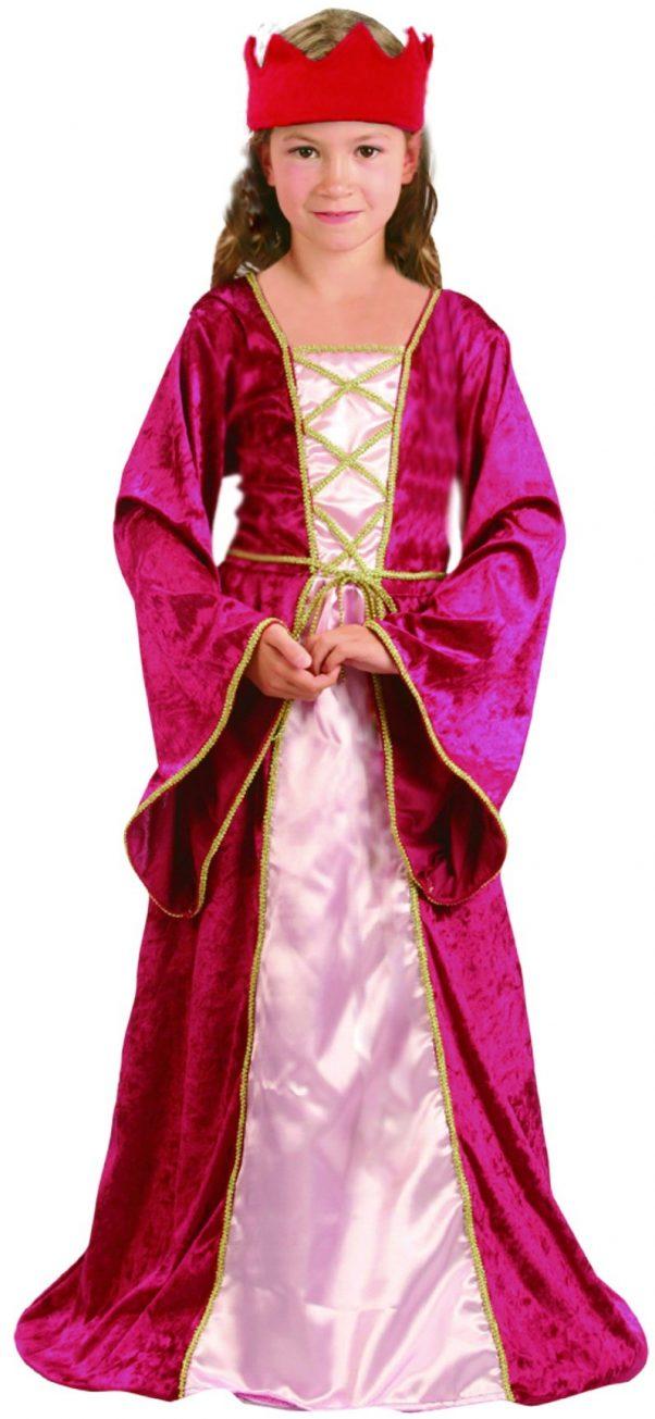 Photo du produit Déguisement reine médiévale rouge fille