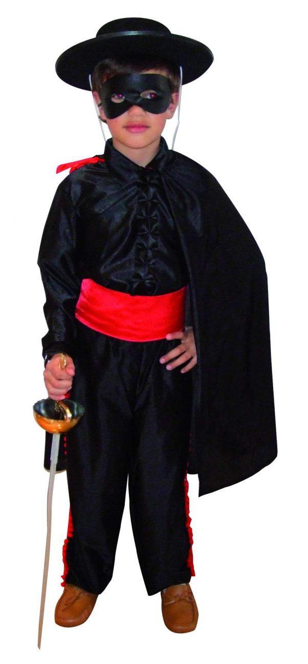Photo du produit Déguisement justicier masqué noir effet satin garçon