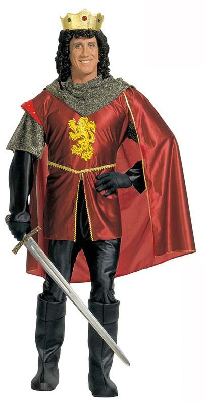 Photo du produit Déguisement roi médiéval rouge homme