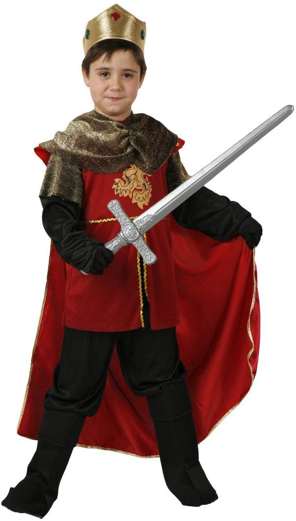 Photo du produit Déguisement roi médiéval rouge garçon