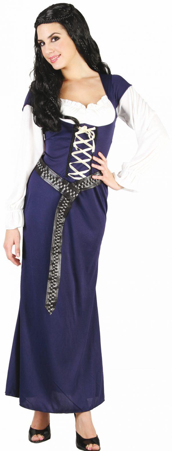 Photo du produit Déguisement Bavaroise robe longue bleue Femme
