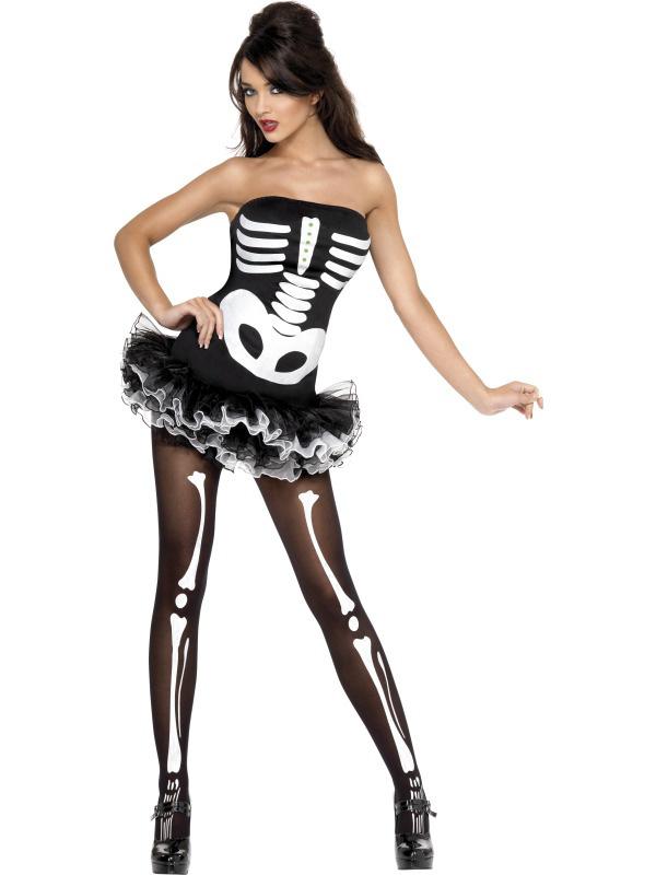 Photo du produit Déguisement squelette sexyfemme avec tutu Halloween