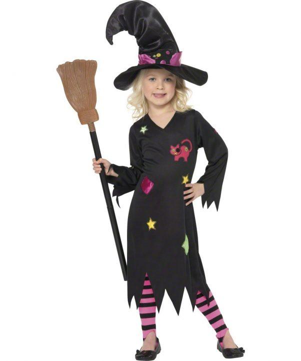 Photo du produit Déguisement sorcière chat fille Halloween