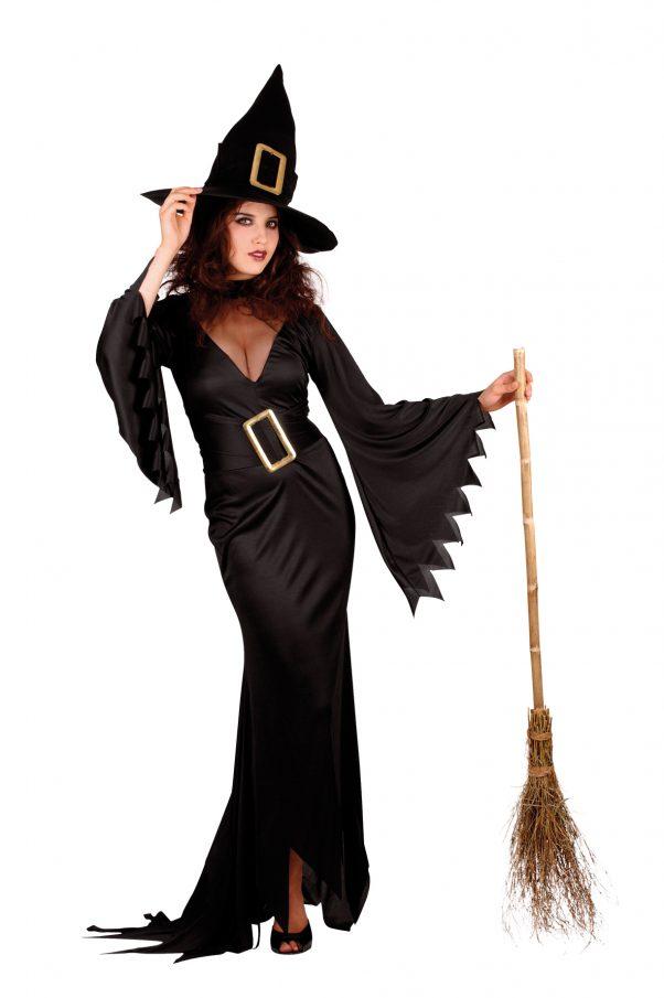 Photo du produit Déguisement long sorcière femme Halloween