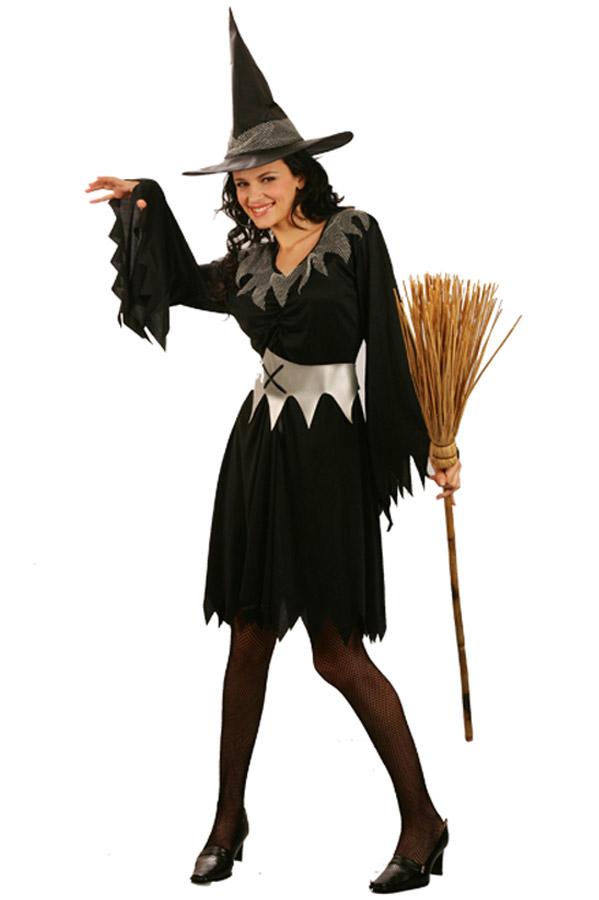 Photo du produit Déguisement sorcière noire avec ceinture femme