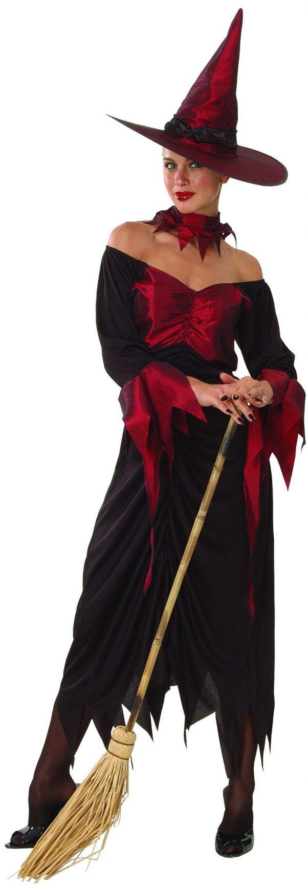 Photo du produit Déguisement sorcière rouge et noire femme Halloween