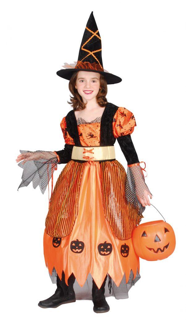 Photo du produit Déguisement sorcière orange fille Halloween