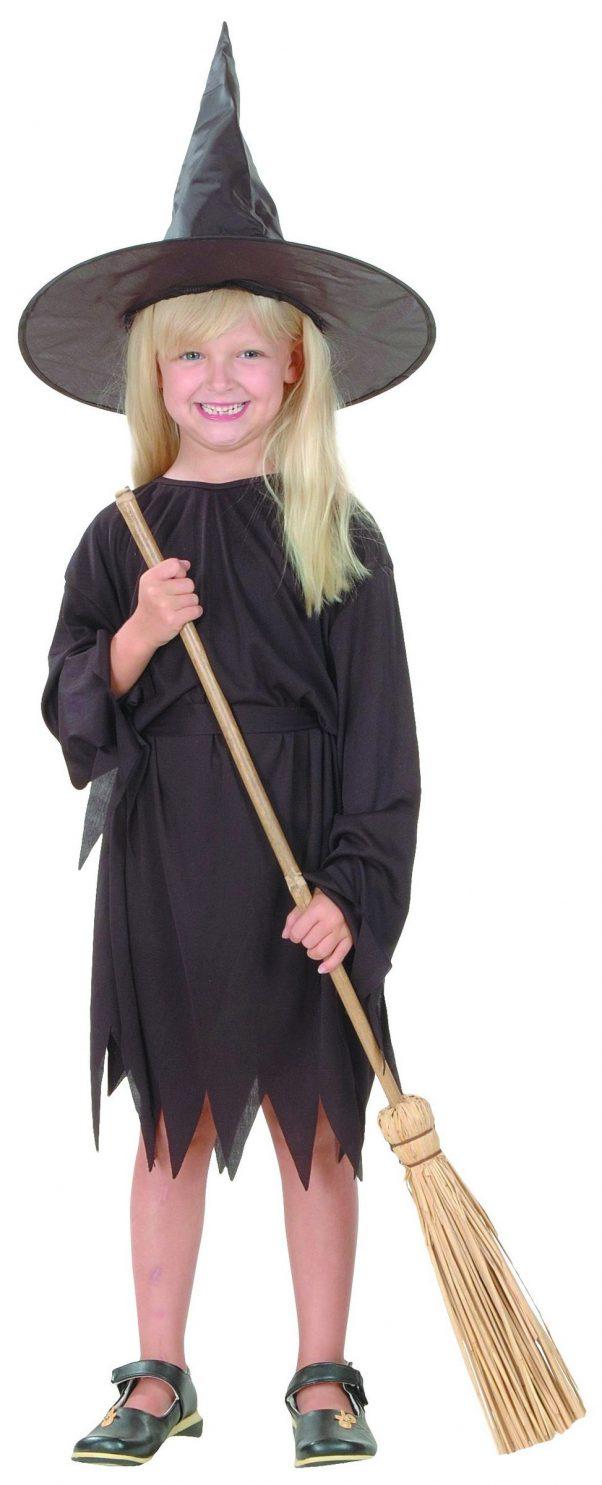 Photo du produit Déguisement noir de sorcière fille Halloween