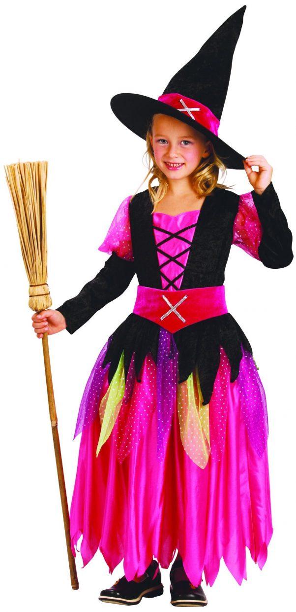 Photo du produit Déguisement rose sorcière fille Halloween