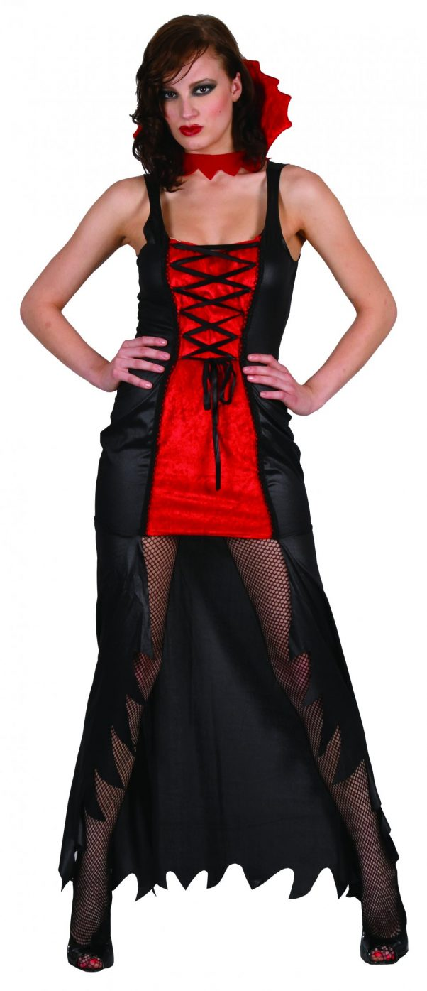 Photo du produit Déguisement vampire femme rouge et noir Halloween