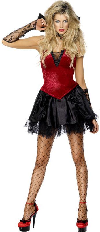 Photo du produit Déguisement vampire effet velours femme Halloween sexy