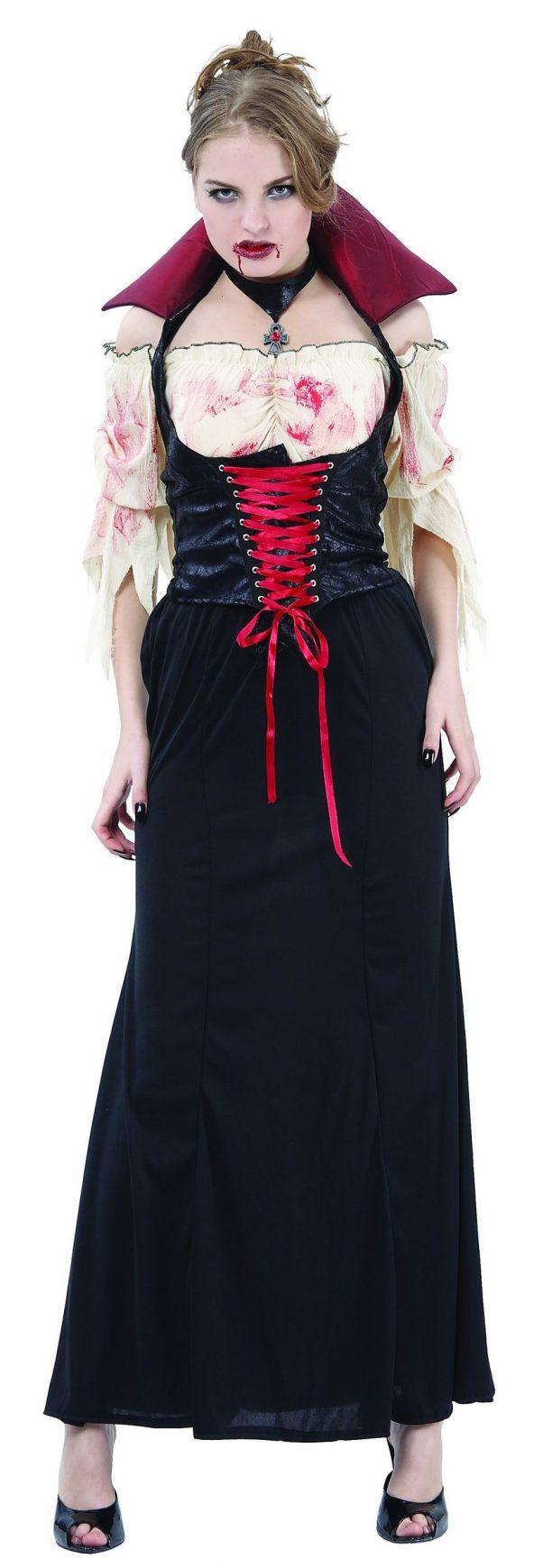 Photo du produit Déguisement vampire effet cuir femme Halloween