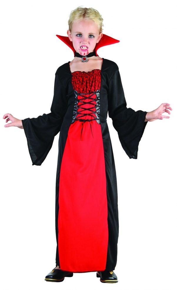 Photo du produit Déguisement vampire long fille Halloween