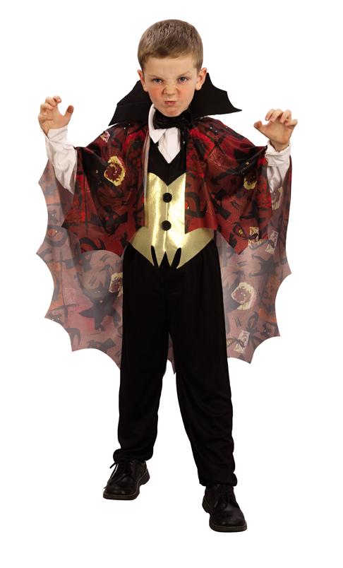 Photo du produit Déguisement vampire garçon jaune et rouge Halloween