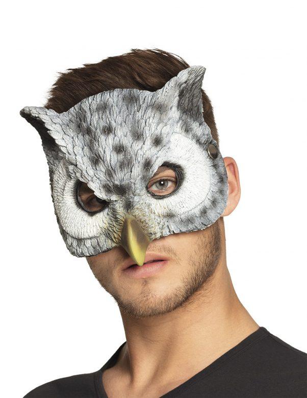 Photo du produit Demi masque chouette adulte