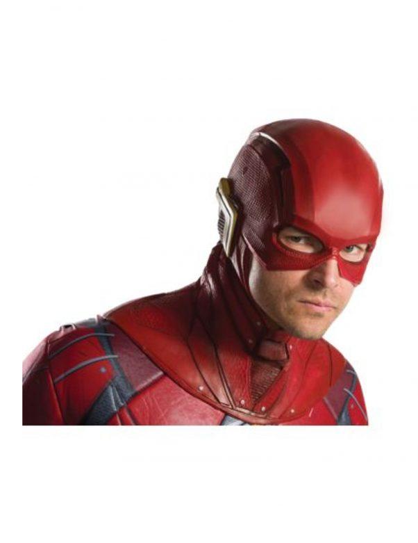 Photo du produit Demi masque en latex Flash Justice League adulte